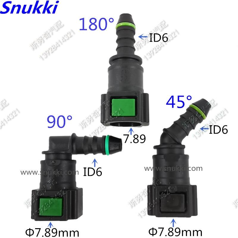 Оригинальные 7,89 мм ID6 180 градусов 5/16 SAE фитинги для топливной трубы авто Топливопровод быстрый соединитель бензин быстрый разъем 2 шт. в партии