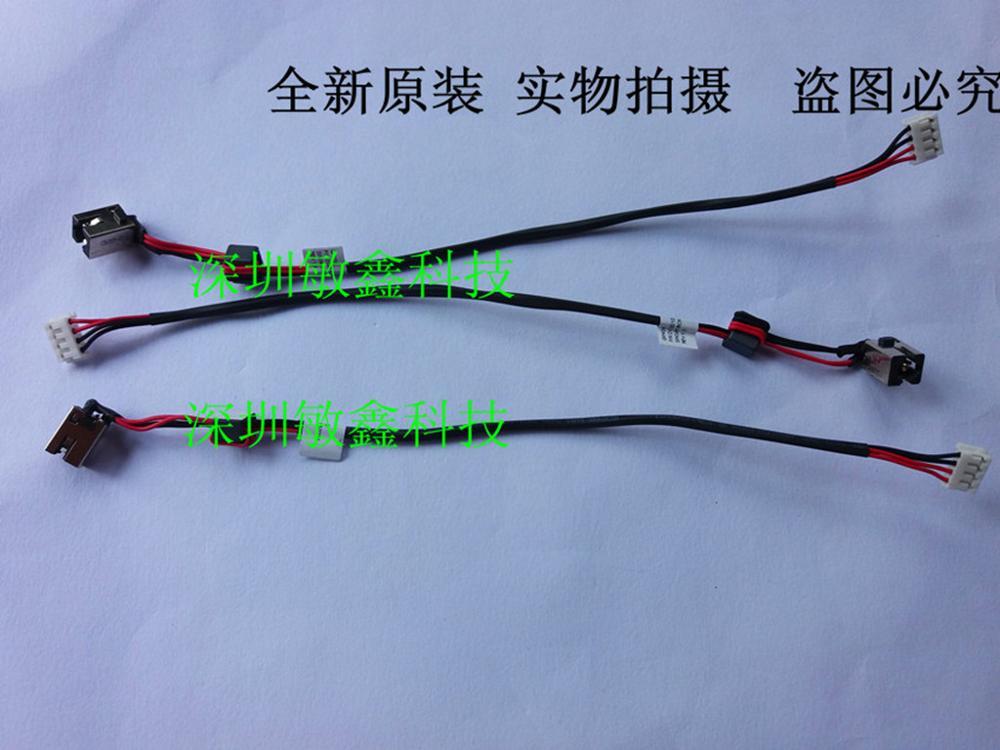 Connecteur de prise de courant continu pour Lenovo G470 G475 G570 Y480 G480 w/câble