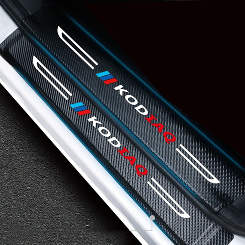 lsrtw2017 fiber leather car trunk mat for bmw 5 series g30 2018 2019 2020 520 528 530 535 540 Lsrtw2017 Fiber Leather Car Sill Sticker Threshold Mat for Skoda Kodiaq 2016 2017 2018 2019 2020 Accessories Protector Auto