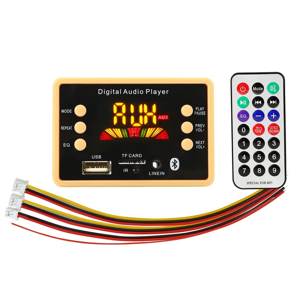5v/12v Car USB MP3 Player Bluetooth 5.0 MP3 Decoder Decoding Board Module WMA WAV TF Card Slot / USB / FM Remote Board Module