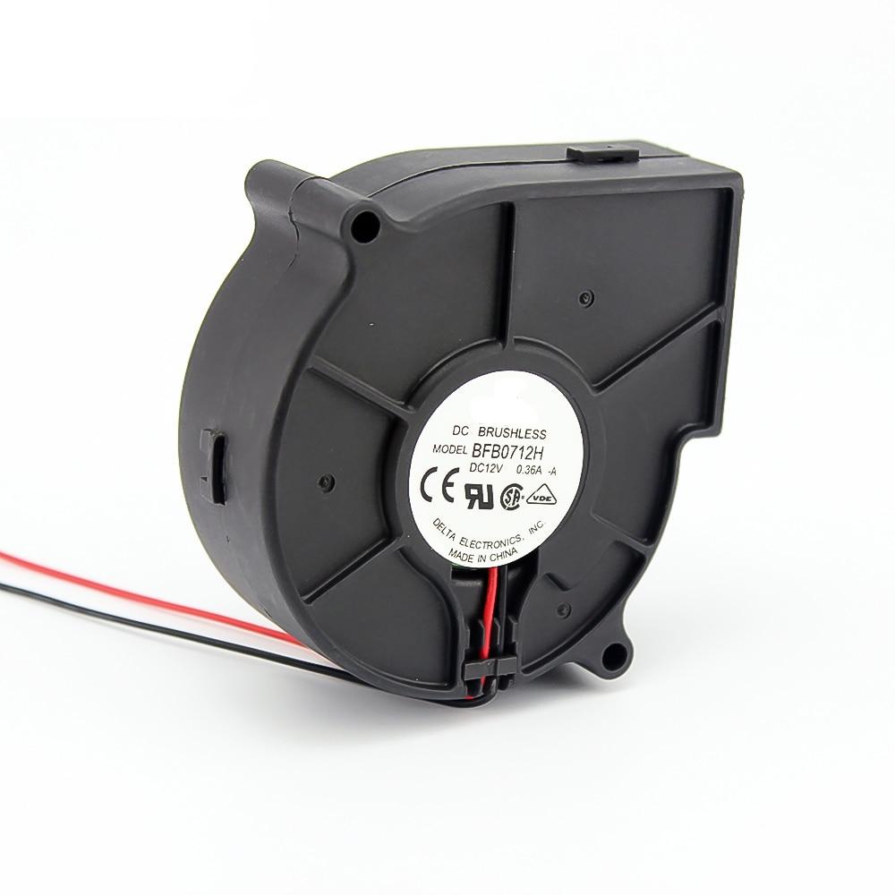 Бесщеточный BFB0712H 7530 AC/DC 12V 0.36A Вентилятор проектора центробежный вентилятор охлаждения 7 см вентилятор 100000 часов