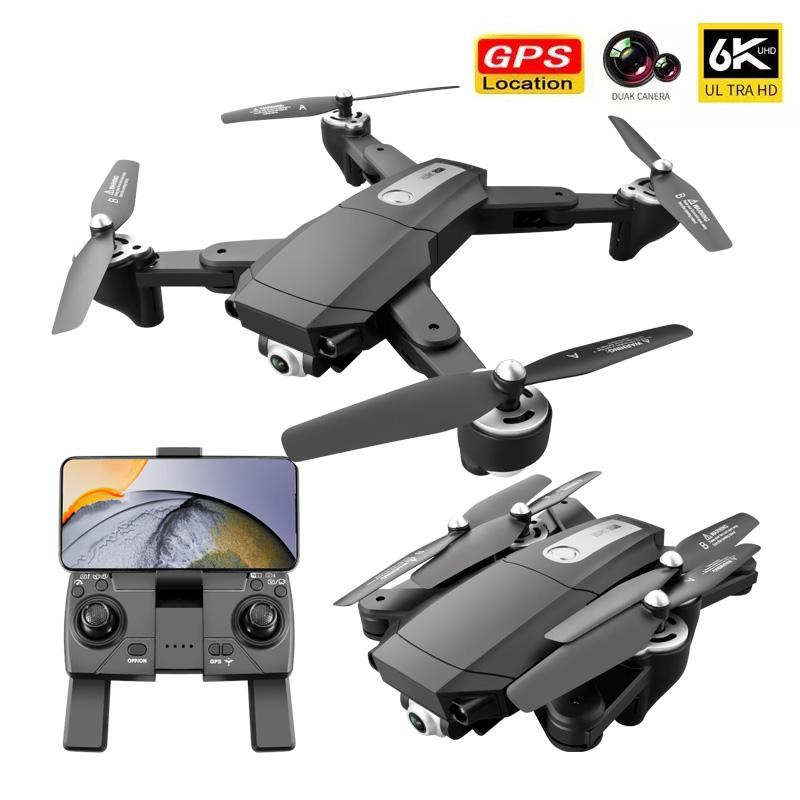 New Rc Camera Drone 4k HD Wide Angle Camera 1080P WiFi Fpv Drone Dual Camera Quadcopter Real-time Transmission Helicopter Toys