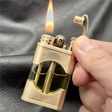 ZORRO-encendedor de queroseno de Metal a prueba de viento, tanque de aceite transparente, encendedor de pedernal Retro creativo, accesorios para fumar, nuevo