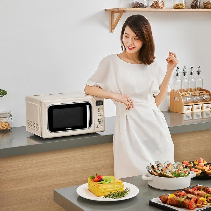 Horno de cocina de 220V, 50HZ, 800W, microondas automático inteligente para el hogar, microondas, horno de Pizza de 20l