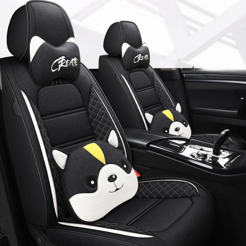 التغطية الكاملة الكتان الألياف غطاء مقعد السيارة مقاعد السيارات يغطي ل دايو ماتيز gentra nexia