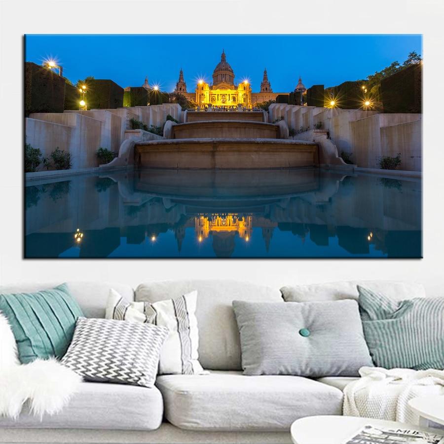 Paisaje de palacio de noche grande 5d diy pintura de diamante mazayka bordado venta taladro redondo cuadrado completo decoración del hogar JX663