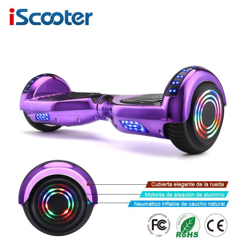 IScooter Ховерборды самобалансирующийся электрический скутер скейтборд Электрический Ховерборд 6,5 дюймов два колеса Ховерборд