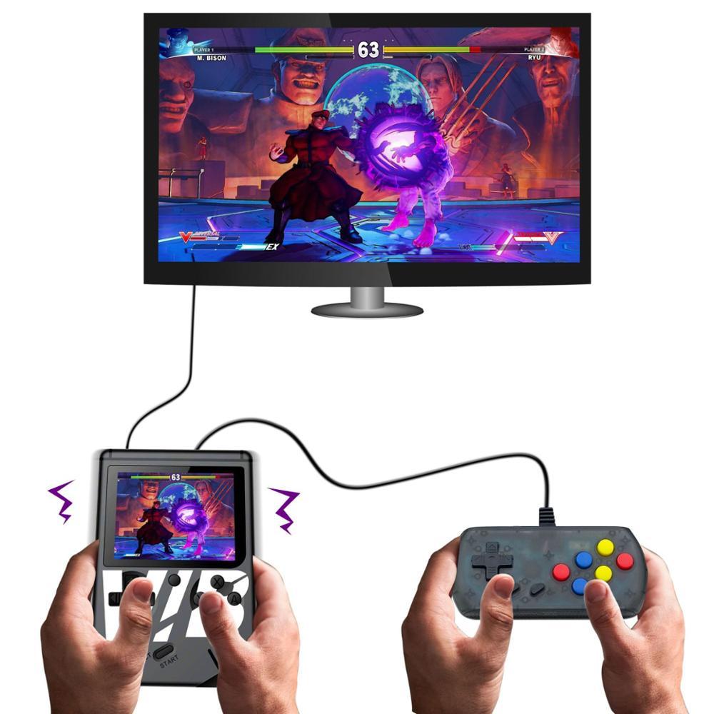 2019 nuevo VIB Mini consola de juegos de mano vibratoria reproductor de juegos incorporado en 169 juegos Retro soporte de salida de TV doble juego lucha