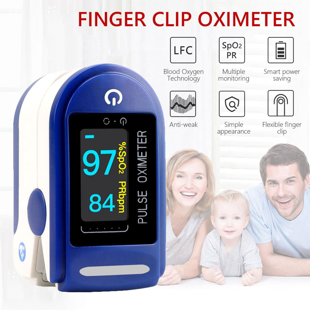 Portable Finger Oximeter fingertip Pulsioximetro Heart Rate Saturometro Household Health Monitors Pulse Oximeter Oximetro