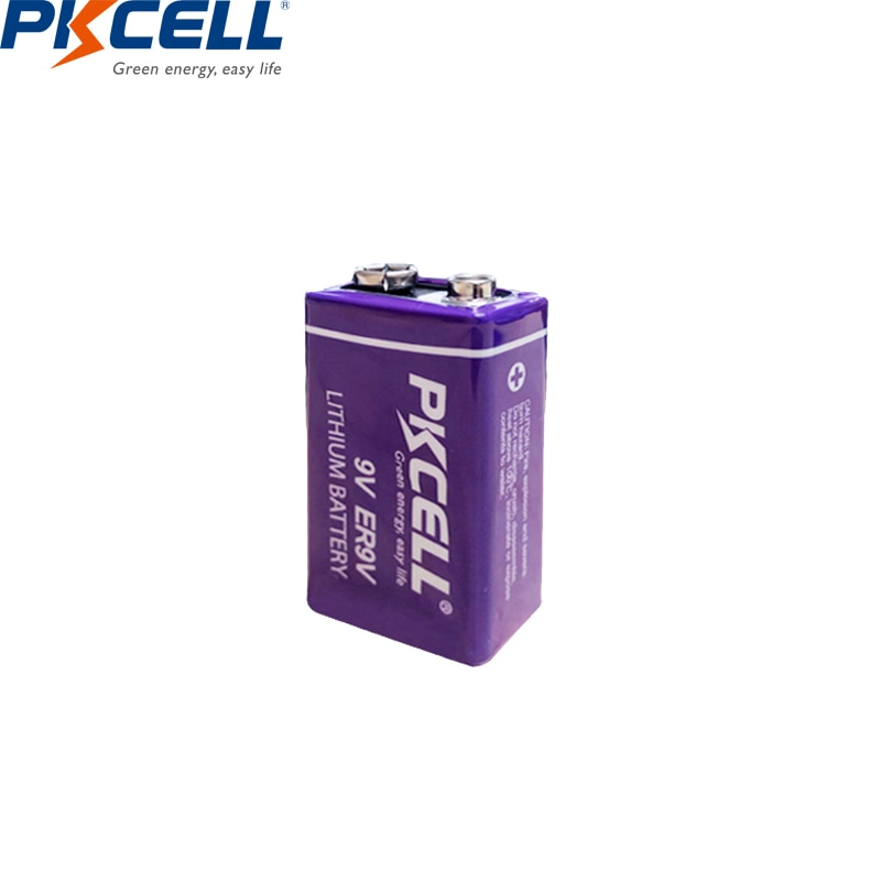 1 piezas PKCELL ER9V de 1200 mAh de la batería 9 V...