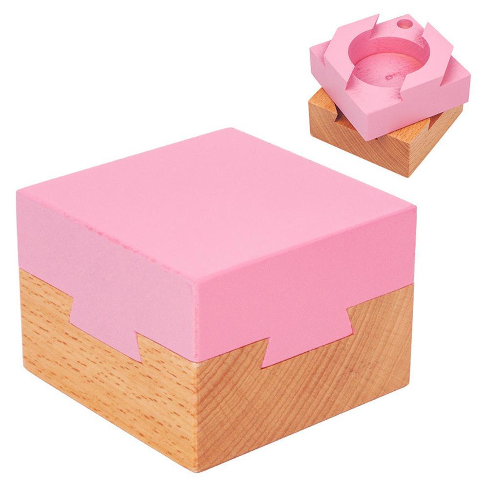 Wooden Magic Gift Box Luban Lock Brain Teaser Anti Stress Kids Toy Brain Teaser Game Toy Kids Educational Toys for Children Gift