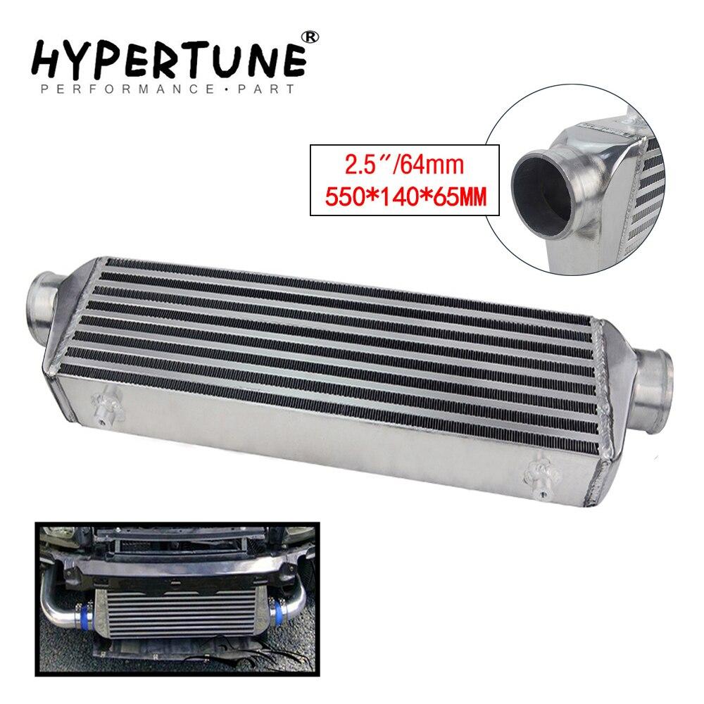 "Hypertune - 550*140*65mm universal turbo intercooler barra & placa od = 2.5 ""frente montagem intercooler HT-IN811-25"