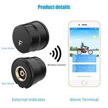 Bluetooth Motorrad Tire Pressure Monitoring System TPMS Telefon APP Erkennung Externe Sensor