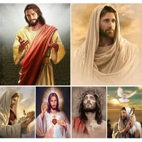 diy 5d diamond painting religious cross stitch full square drill embroidery jesus christ mosaic picture embroidery home decor