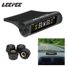Car TPMS Tyre Pressure Monitoring System Solar Power Digital LCD Display Auto Security Alarm Systems
