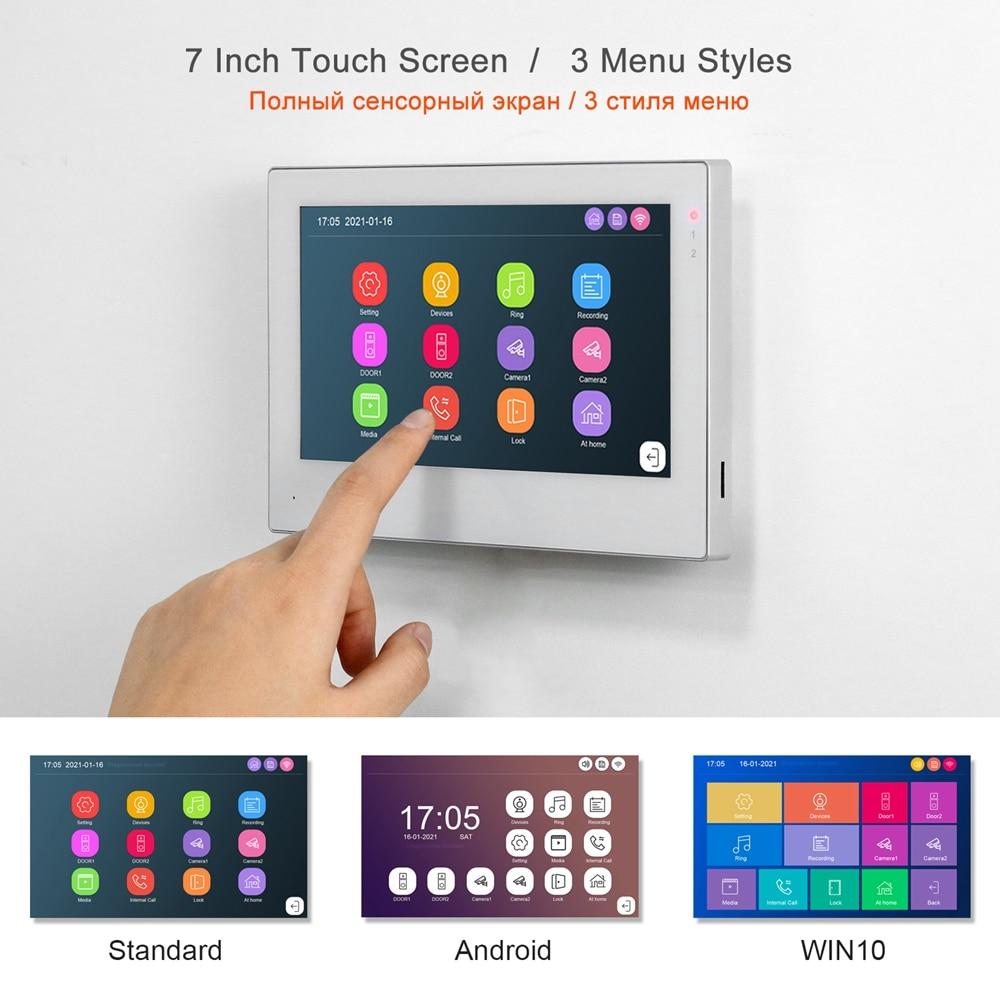 Smart Life WiFi Video Intercom Home TUYA IP Video Door Phone Touch Screen 1080P Keypad Doorbell Fingerprint Password RFID Unlock enlarge