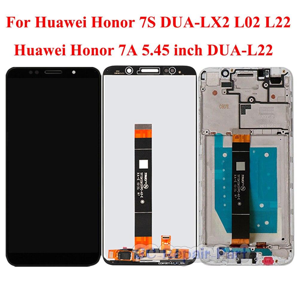 "Pantalla para Huawei Honor 7A 5,45 ""DUA-L22 pantalla Lcd pantalla táctil de reemplazo para Honor 7S DUA-LX2 L02 LCD + marco versión RU"