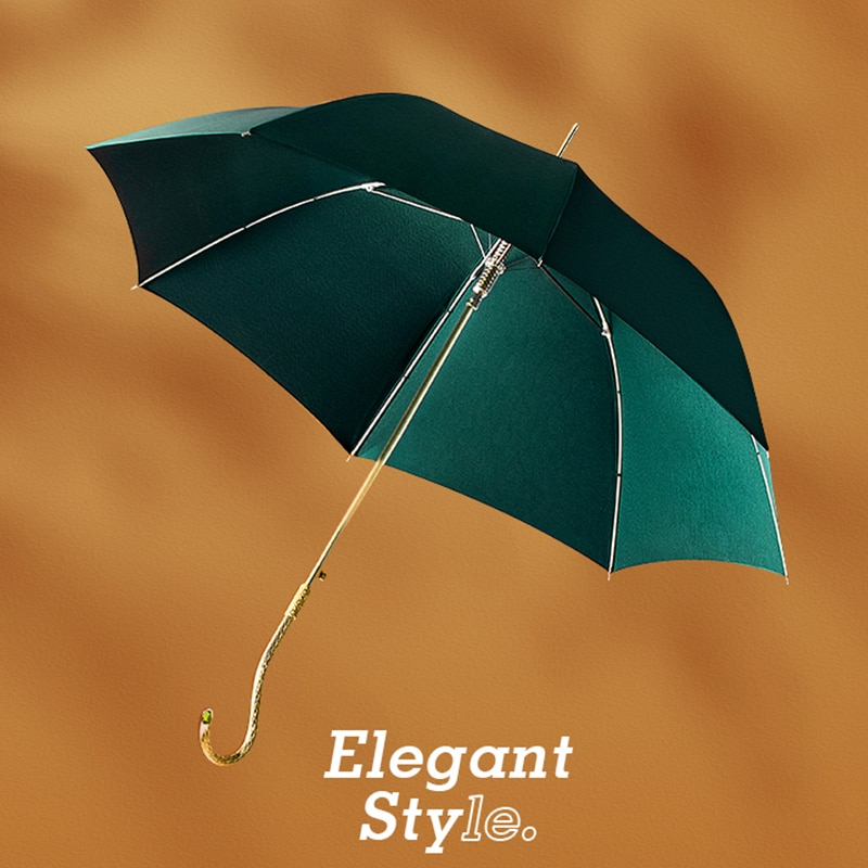 Longo-lidar com Guarda-chuva Lidar com Cor Luxo Mulher Chuva Brilho Duplo-uso Literário Verde Guarda-chuvas Pára-sol Oco Guarda-chuva Sólida