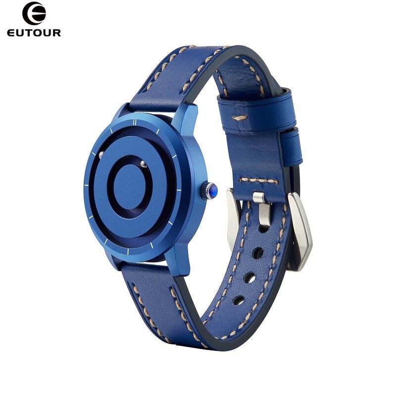 ساعة كوارتز EUTOUR ملونة للرجال والنساء ، ساعة بسيطة ، مغناطيسية ، عرض للزوجين ، هدية ، توصيل مباشر