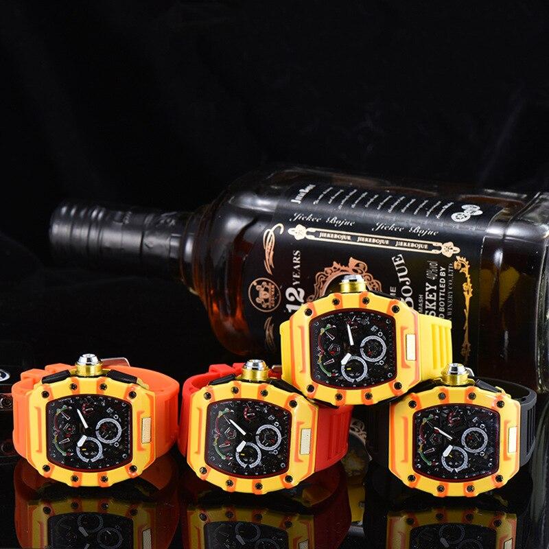 silicone boa qualidade relógio vermelho 6-pin running