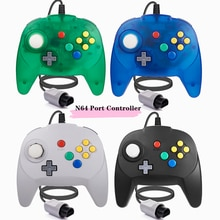 [New Version] 2 Pack for N64 Controller, Mini Game pad Joystick for N 64 Console- Plug & Play (Desig