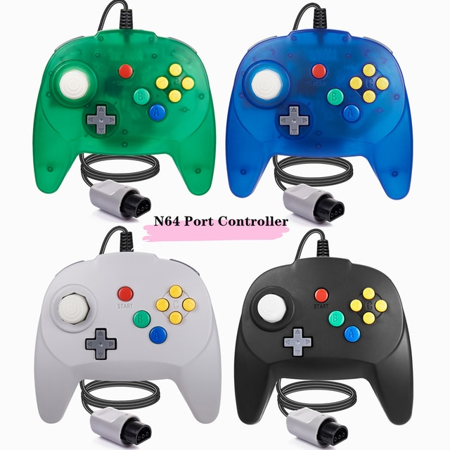 [New Version] 2 Pack for N64 Controller, Mini Game pad Joystick for N 64 Console- Plug & Play (Design from Japan)