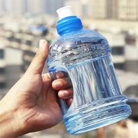 1000ml creative large capacity water bottles workout water bottle outdoor sports gym fitness training camping running plastic