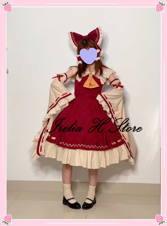 {Stock now}Hakurei ريمو توهو مشروع تأثيري Hakurei ريمو تأثيري فستان مُصمم حسب الطلب أنثى طبعة محدودة