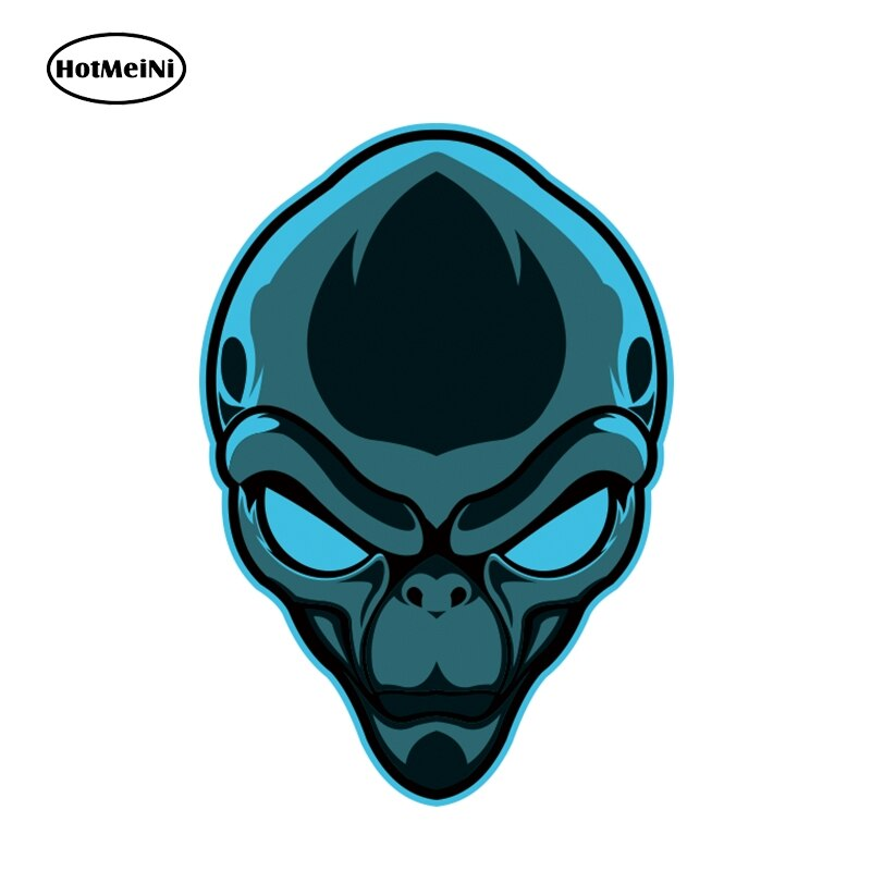 HotMeiNi 13cm x 9cm personalidad 3D Alien Head vinilo calcomanía coche motocicleta pegatina impermeable Car Styling Sticker Accesorios