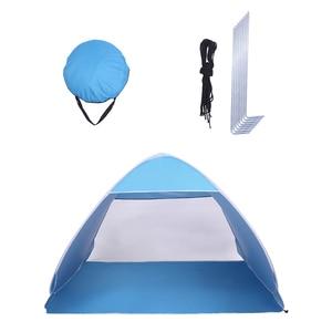 【US Warehouse】2-3 Person Beach Tent Pop Up Sun Shelter Tent Big Automatic Sun Umbrella 2-3 Person Fishing Beach Shelter   (Tent)