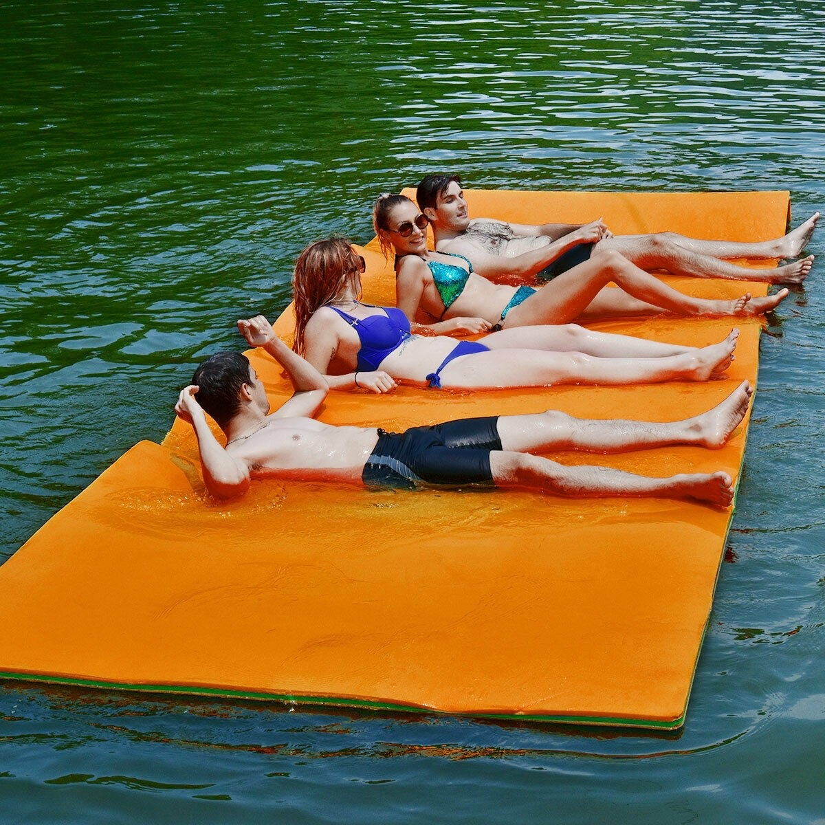 12' x 6' 3 Layer Floating Water Pad Water sports multi person high load bearing