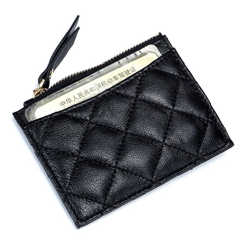 Sheepskin Leather Credit Card Holder Genuine ID Holders Business Wallet Slim Unisex Ultra Thin Case