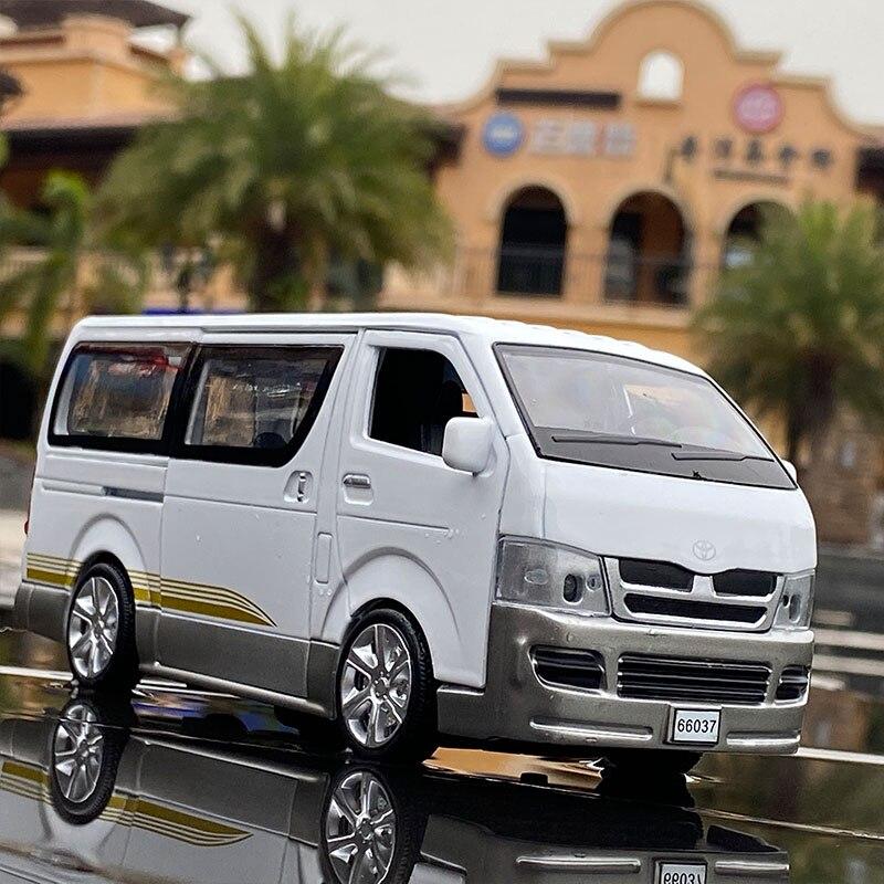 نموذج سيارة تويوتا هايس ، مقياس 1:32 ، سبيكة ، MPV ، لعبة ، صوت ومعدني ، هدية ، عربة ، لعبة