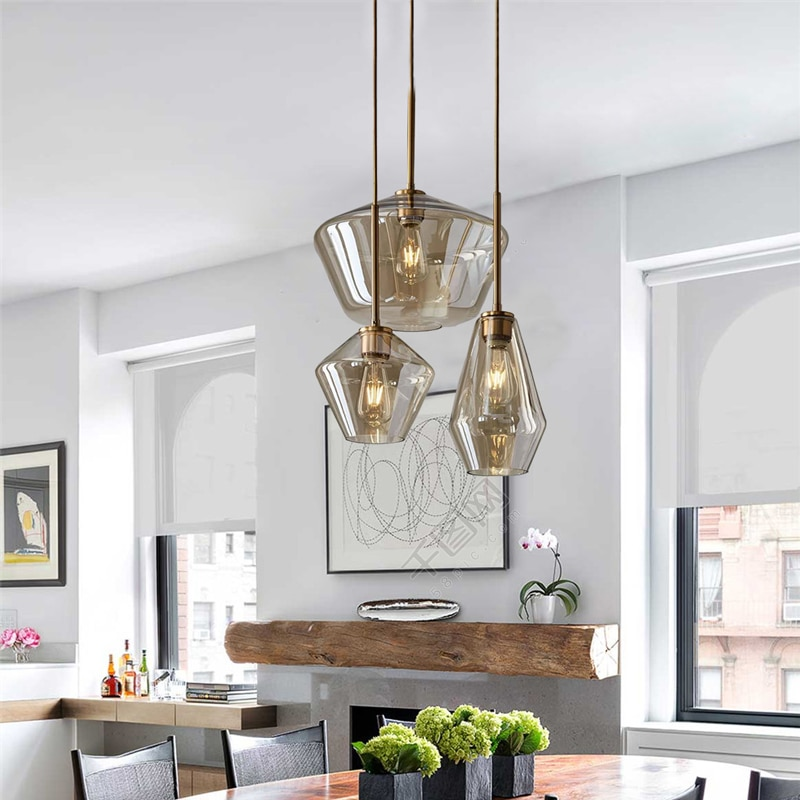 creative home fixtures modern led pendant lights for living room bedroom dining room originality led pendant lamps input ac 220v Nordic Glass Ball Modern Pendant Lights Dining Room Kitchen Hanging Lamps Living Room Decor Lights for Home LED Light Fixtures