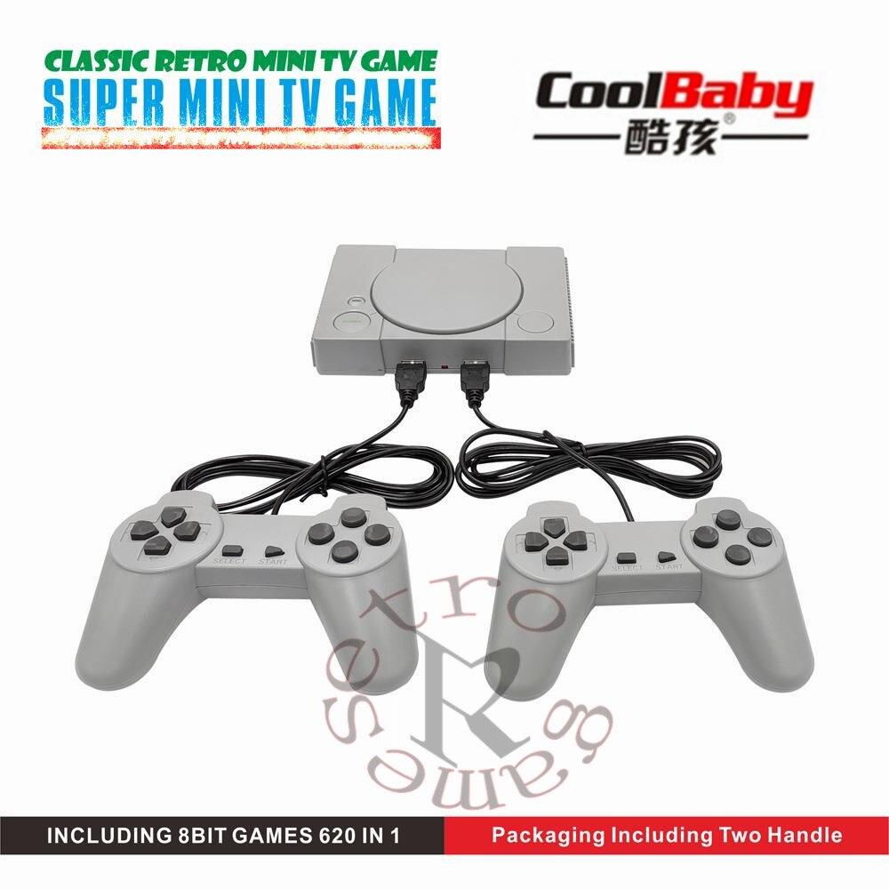DHL 20 unids/lote Mini consola clásica de juegos de TV para el hogar 8bit consola de Video de mano Retro integrada en 620 juegos dos jugadores con caja de venta al por menor