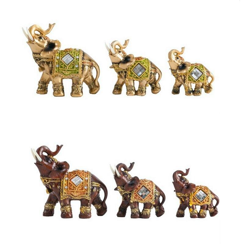 Статуя животного из смолы Lucky Feng Shui, скульптура слона, благоприятное украшение для дома, аксессуары из смолы, украшения в виде слона