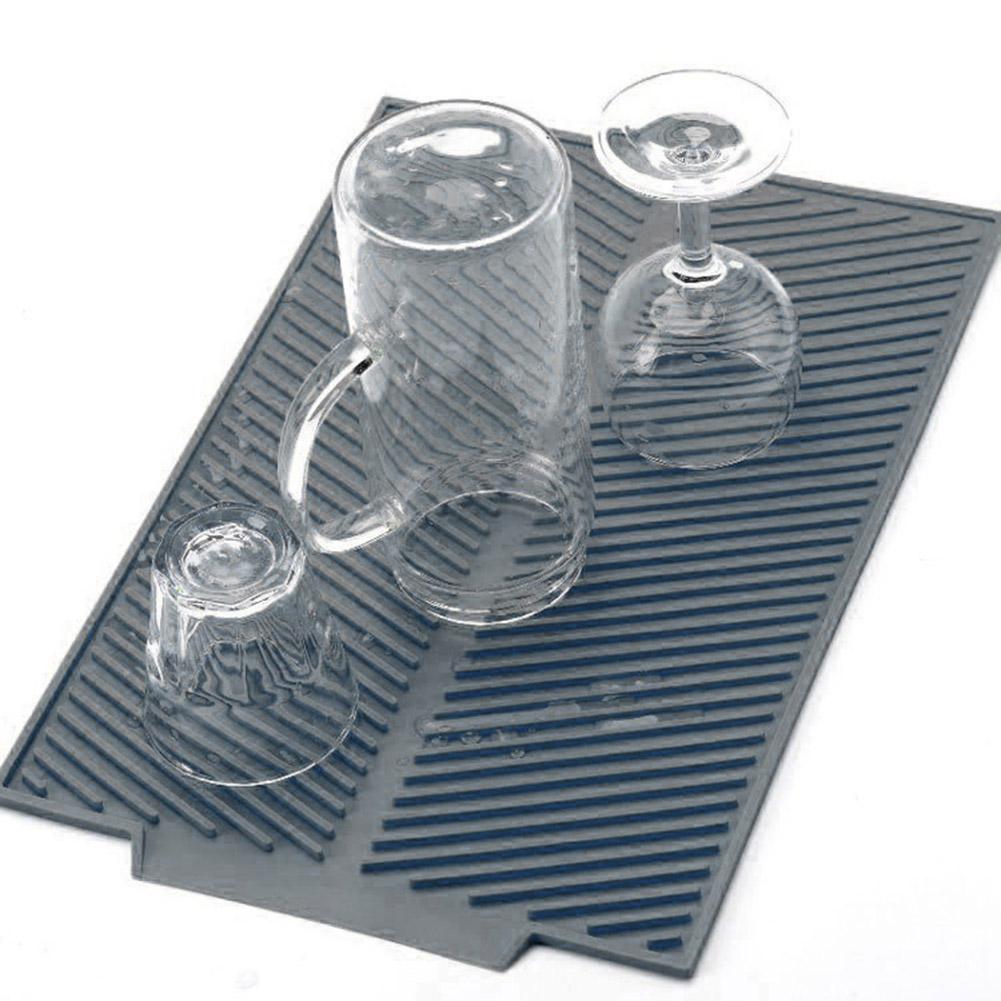 Silicone Dish Drying Mat Large Multi-functional Environmental Insulation Pad Kitchen Organizer