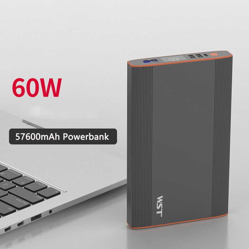 Review 57600mAh Power Bank Outdoor Power Supply PD 60W QC18W for Notebook Laptop Powerbank For iPhone Xiaomi iPad Fast Charge Poverbank