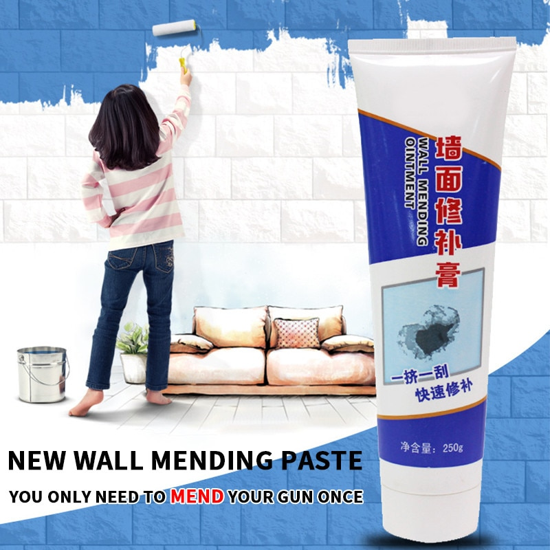 White Latex Paint Wall Repair Cream Household Hole Disappear Waterproof Wall Crack Hole Repair Cream Wall Repair Tool 250g