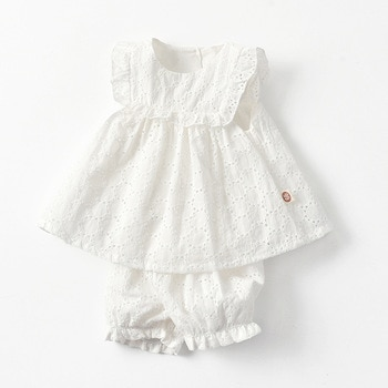 Yg Brand Children's Clothes, 2021 Summer Clothes, Baby Fashion Suit, White Girls' Summer Clothes, 0-2 Years Old Children's Cloth