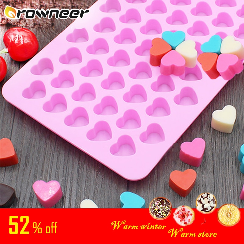 Mini Heart Mold Silicone Ice Cube Tray DIY Chocolate Fondant Mould 3D Pastry Jelly Cookies Baking Cake Decoration Tools 5 Colors