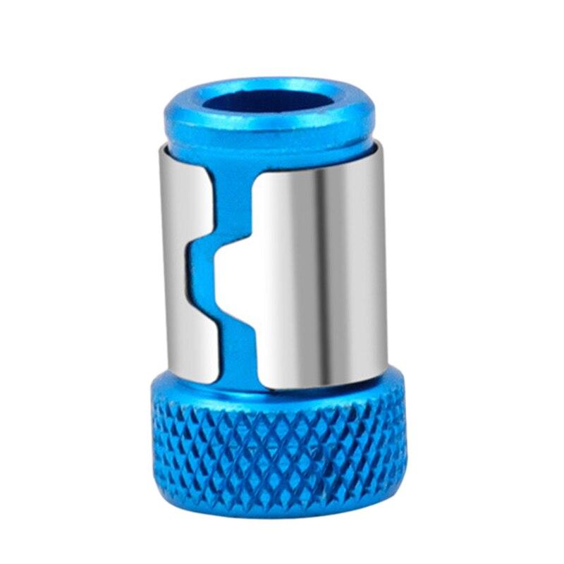Herramientas de cabeza de destornillador de Metal de 7mm anillo magnético fuerte bobina magnética soporte de manga de acero herramienta de tornillo de taladro