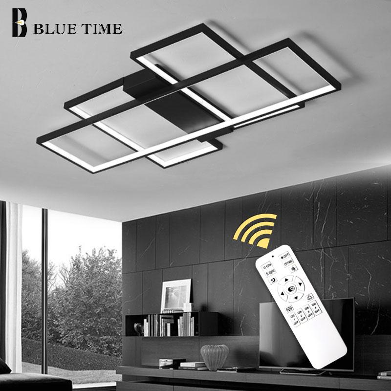 Araña de techo LED blanca y negra para sala de estar, sala de estudio, dormitorio, Araña de techo Led moderna de aluminio, iluminación para el hogar