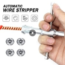 Automatic Wire Stripper Electrician General Stripping Artifact Connector Hand Tools Line Cable Peeling Twisting Connector Pliers