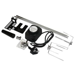 Барбекю гриль вертел универсальный набор барбекю мотор для электрического барбекю вилка Великобритании