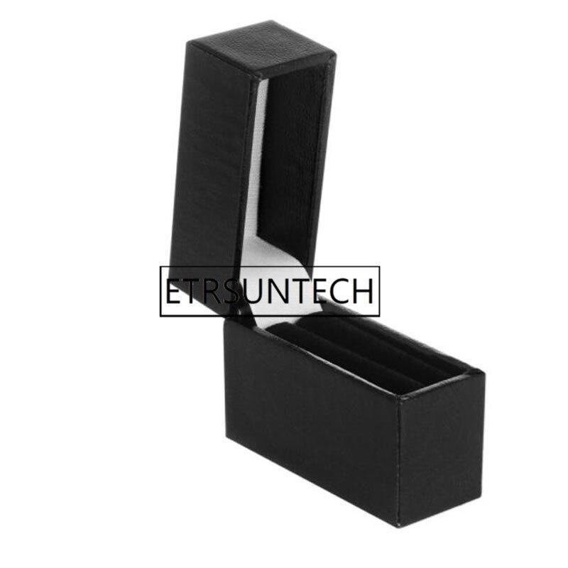 120 قطعة مستطيل أسود مقوى صندوق خاتم مجوهرات هدية تخزين صناديق زفاف إشراك حلقة صندوق عرض