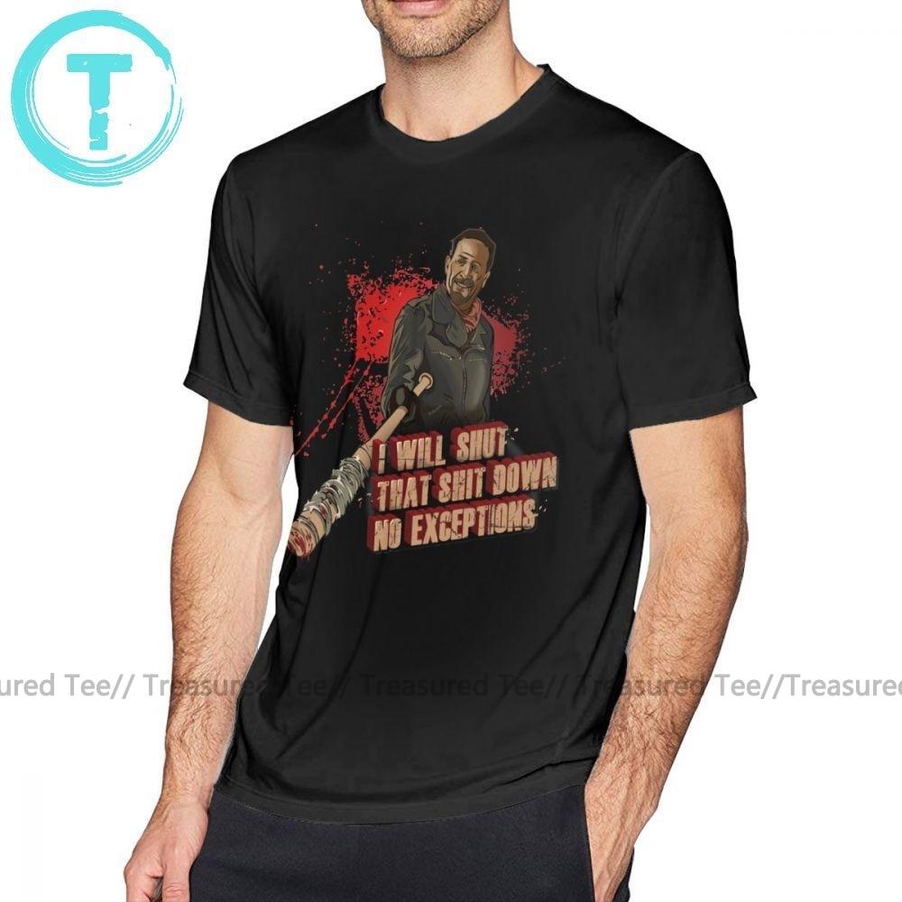 Negan, camiseta Negan Walking Dead, camiseta de moda 100 algodón, camiseta gráfica de gran tamaño para hombre, camiseta linda de manga corta