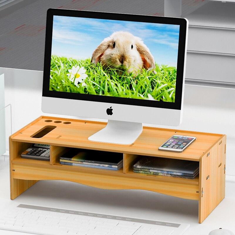 Компьютерная подставка для монитора, поднятая стойка, компьютерный держатель, подставка для монитора, настольная подставка, деревянная под...