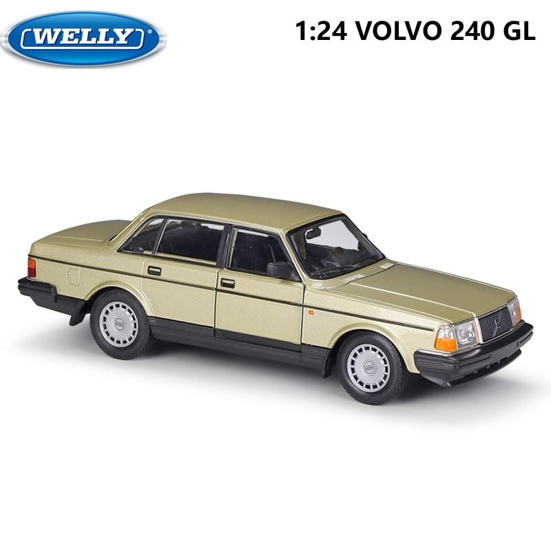 WELLY Diecast 1:24 مقياس سيارة الكلاسيكية فولفو 240 GL عالية محاكاة نموذج سيارة سبيكة معدنية سيارات لعبة ل Chlidren هدية جمع