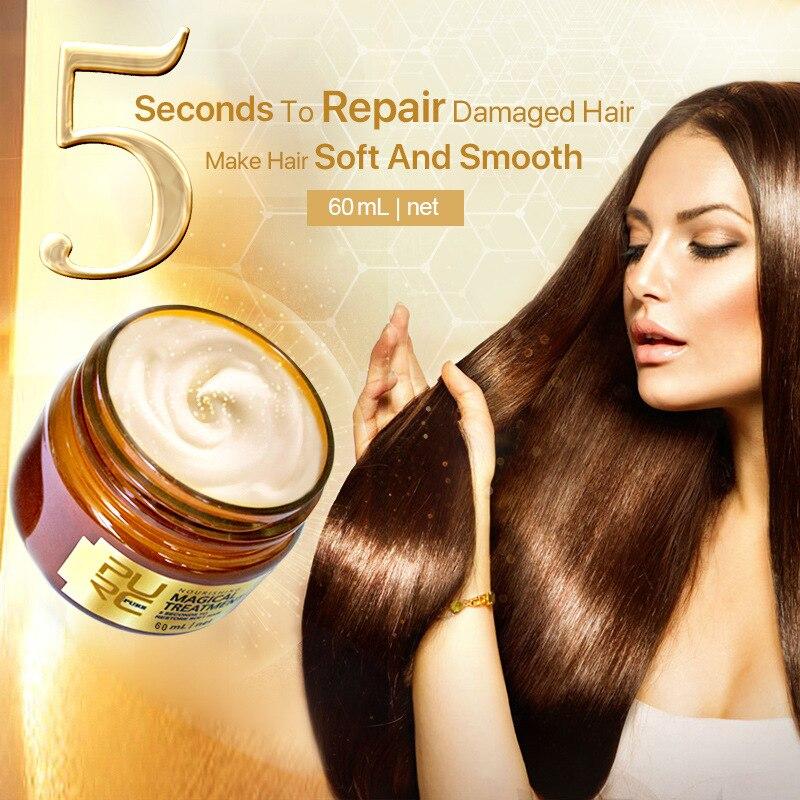 PURC60ml-mascarilla de tratamiento mágico, 5 segundos, repara el daño, repara el cabello...